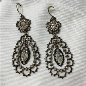 Chloe and Isabel Pearl and Crystal Earrings